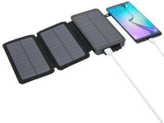Linocell Powerbank med solcellelading 16 000 mAh