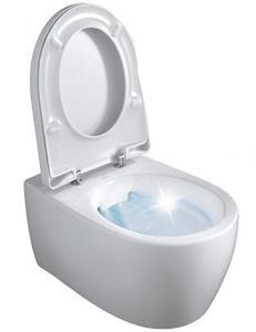 Vegghengt Toalett Keramag Icon Rimfree Inkl. Sete