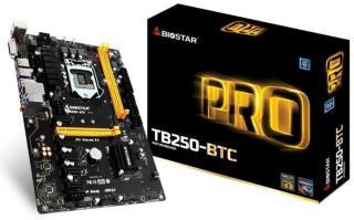 BIOSTAR TB250-BTC Hovedkort - Intel B250 - Intel LGA1151 socket - DDR4 RAM - ATX TB250-BTC
