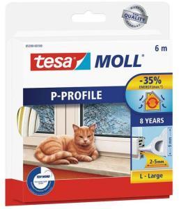 Tesa P-list 05390-00100-00 Tetningstape EPDM, 6 m, 9 mm x 5.5 mm Hvit