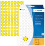 Herma Etikett Ø13mm, gul 4008705022316 (Kan sendes i brev)