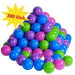 knorr® leketøy ballsett 300 stk, myk farge - Flerfarget