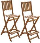 vidaXL Sammenleggbare barstoler 2 stk akasietre
