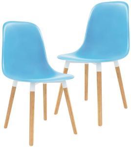 Spisestoler 2 stk blå plast - Blå