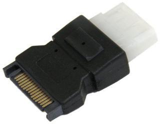 StarTech SATA to LP4 Power Cable Adapter - Power adapter - SATA power (M) to 4 pin internal power (F) - black - LP4SATAFM - strømadapter (LP4SATAFM)