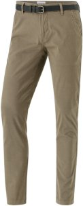 lindbergh Aop Chinos w. Belt, slim fit Men Dk sand