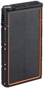 Vanntett Solcellelader med Dobbel USB - 10000mAh - Oransje / Svart