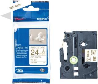 Brother Tape TZER254 gull/hvitt 24mm TZER254 (Kan sendes i brev)