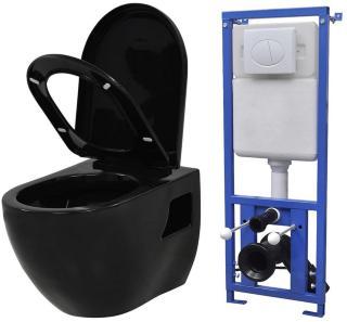 Be Basic Vegghengt toalett med skjult sisterne keramikk svart -