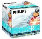 Philips 10 x CD-R - 700 MB (80 min) 52x - skrivbar overflate - CD-eske (CR7D5JJ10/00)