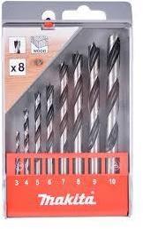 Borsett for tre Makita D-57227 3-10 mm 8 stk