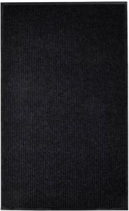 vidaXL Dørmatte svart 160x220 cm PVC