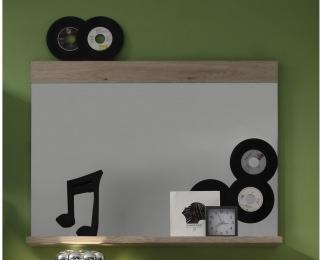 Mayer Speil 90 cm - Hvit/Natur