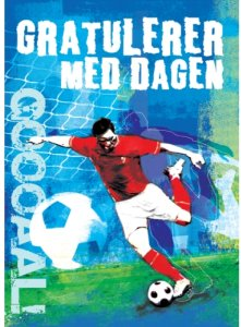 Bursdagskort - Fotballspiller Papirkompaniet AS