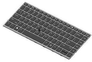 HP erstatningstastatur for bærbar PC - Tysk (L14379-041)