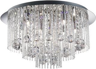 Beatrix Taklampe 8L Led Flush Twist Tubes & Crystal Drops -