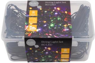 KULZ LYSSLYNGE RGB 80 LED, FLERFARGET