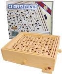 Labyrint i tre - med 4 ulike plater
