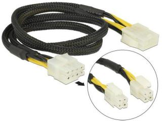 DELOCK Extension Cable Power 8 pin EPS male (2 x 4 pin) > 8 pin female 44 cm (83653)