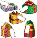 Beistle Små julegaveutskjæringer - Jul
