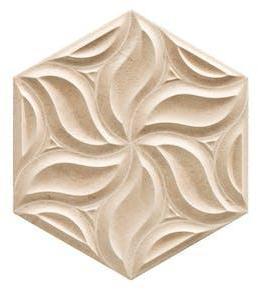 Dekor Hexagon Habitat Beige 29x33 cm
