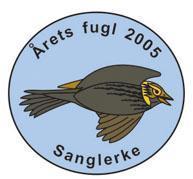 Sanglerke pin Årets fugl 2005