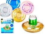 Pool Float Drink Holder Holographic Glitter 2-pack