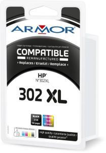 Armor Blekkpatron Pakke 302XL Sort/3-Farge (21ml/16ml) B10497R1 (Kan sendes i brev)