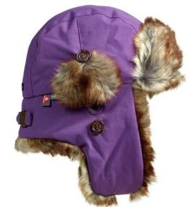 Isbjörn Squirrel Winter Cap Royal (#6C4885) 48/50cm