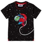 Fabric Flavours Black Out Of This World Space Dino T-Shirt 9-10 years