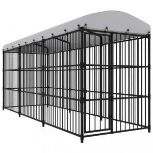 Utendørs hundegård med tak - 450x150x210 cm