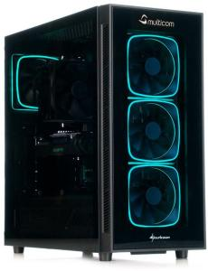 Multicom Noox A627R Gaming PC AMD Ryzen 7 3700X, 16GB DDR4 RAM, 500GB PCIe SSD, 2TB HDD, GeForce RTX 2070 Super 8GB, 600W, uten operativsystem (MULTICOM-A627R-AMDFB)
