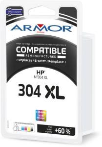 Armor Blekkpatron Farge (16.5ml), erstatter HP No.304XL/N9K07AE K20642 (Kan sendes i brev)