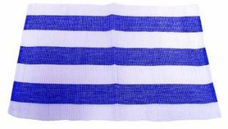 løper 35*90 cm blå/hvit