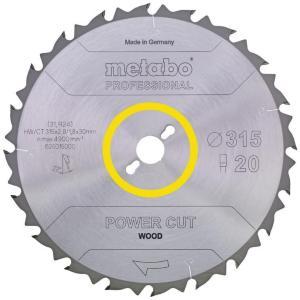Sagblad for tre Metabo Power cut Ø254 mm