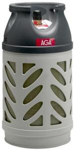 AGA Propan flaske u/gass kompositt 10kg AGA
