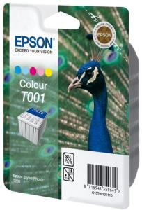 Epson T001 - farge (cyan, magenta, gul, lys cyan, lys magenta) - original - blekkpatron (C13T00101110)