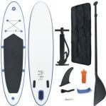 vidaXL Oppblåsbart padlebrettsett blå og hvit
