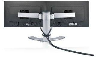 FUJITSU Dual Monitor Stand for 2 Displays 21.5 inch up to 27 inch Height Adjust and Tilt (S26361-F2601-L750)