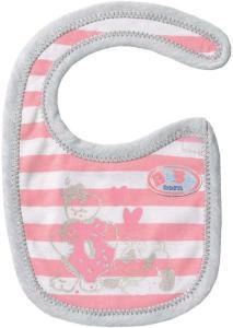 BABY Born Bib - stripete smekke til dukke 43 cm
