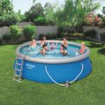 Bestway Oppblåsbart svømmebassengsett Fast Set 457x122 cm rund 57289