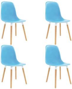 vidaXL Spisestoler 4 stk blå plast