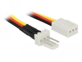 DELOCK Fan Power Cable 3 pin male to 3 pin female 60 cm (85752)