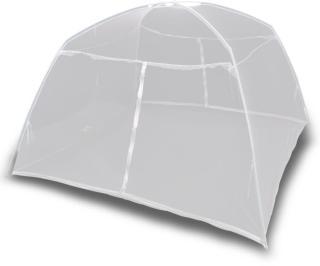 vidaXL Campingtelt 200x120x130 cm glassfiber hvit