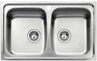 Intra Universo UNI200 Kjøkkenvask 79x50 cm, m/Kurvventil, Rustfritt stål