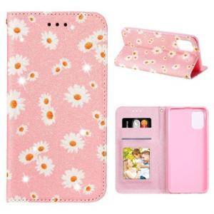 Daisy Pattern Samsung Galaxy A31 Lommebok Deksel - Rosa