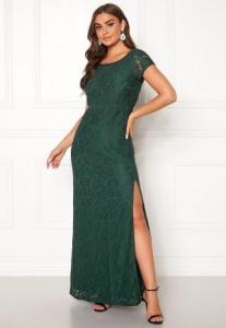 DRY LAKE Mira Long Dress 325 Emerald Green XS