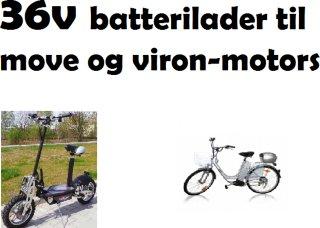 Batteri lader til V-motors sykkel/scooter