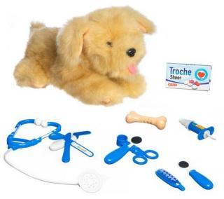 Lekia Interaktiv hund hos veterinær brun