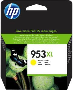 HP No953XL yellow ink cartridge (F6U18AE)